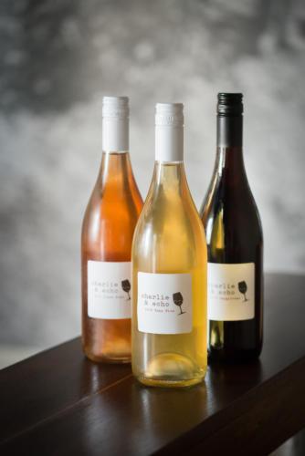 Bottles in Tasting Room